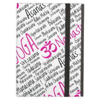 Elegant Pink and Black Yoga Positions Asanas iPad Air Covers