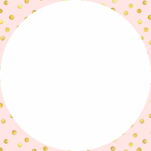 Elegant Pink And Gold Foil Confetti Dots Pattern Paper Plate
