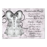 Elegant Pink and Gray Bachelorette Party Personalized Invites