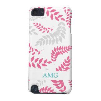 Elegant Pink and Grey Fern Foliage iPod Touch 5G Case