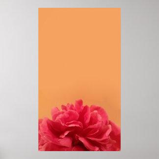Elegant Pink and Orange Floral Art Poster