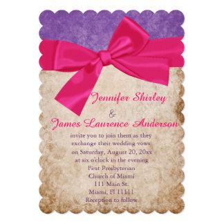 Elegant Pink and Purple Wedding Invitation