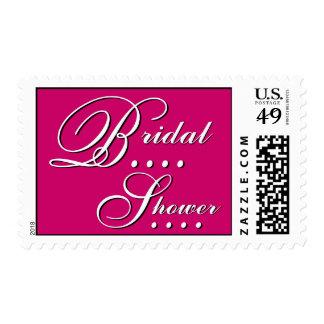 Elegant Pink and White Bridal Shower Stamp