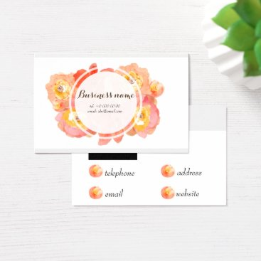 Beach Themed Elegant Pink and Yellow Watercolor Flowers Card