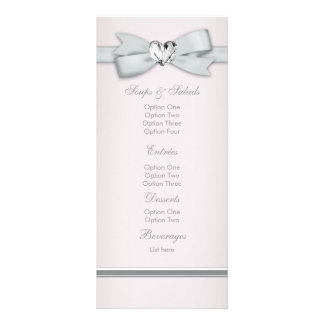 Elegant Pink Baby Shower Menu Cards