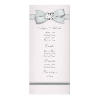 Elegant Pink Baby Shower Menu Cards