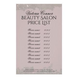Elegant Pink Beauty Salon Price List Flyer