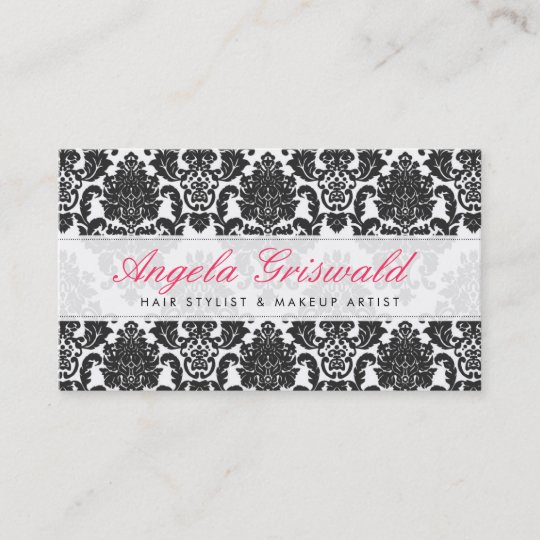 Elegant pink black damask business cards zazzle elegant pink black damask business cards reheart Choice Image