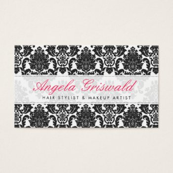 Browse products at zazzle with the theme event planner business elegant pink black damask business cards reheart Gallery