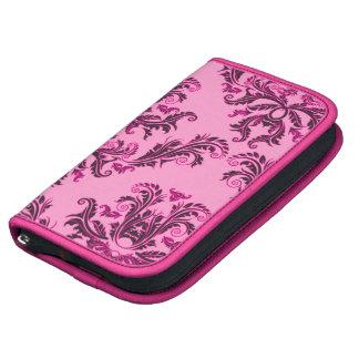 Elegant Pink & Black Damask Pattern Planners
