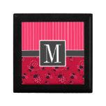 Elegant Pink & Black Ladybug Jewelry Box