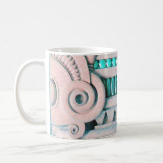 ELEGANT PINK BLUE ART NOUVEAU,FANTASY MARBLE DECOR COFFEE MUG