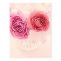 Elegant pink bouquet and pink Ranunculus Postcard