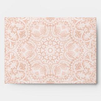 Elegant Pink Bridal Lace A7 Envelope