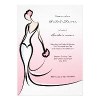 Elegant Pink Bridal Shower Invitations