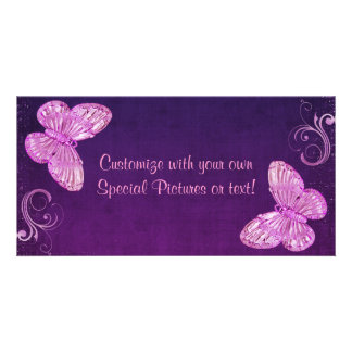 """""""Elegant Pink Butterfly"""" Beautiful Expressions Photo Card"""