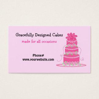 Elegant Pink Cake Business Card
