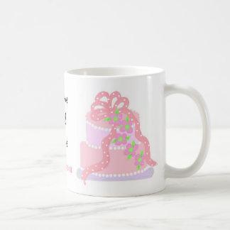 Elegant Pink Cake Save The Date Coffee Mug