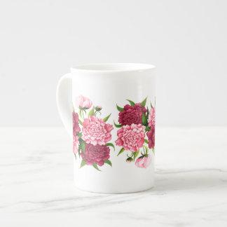 Elegant Pink Camellias Bone China Mug Tea Cup