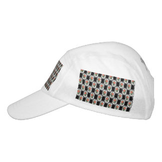 Elegant Pink Carnation Pattern Headsweats Hat