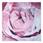 "Elegant Pink Celebrate Birthday Party invite 5.25"" Square Invitation Card"