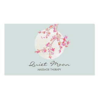 Elegant Pink Cherry Blossom Floral Business Card