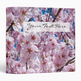 elegant pink cherry blossom tree photograph 3 ring binder