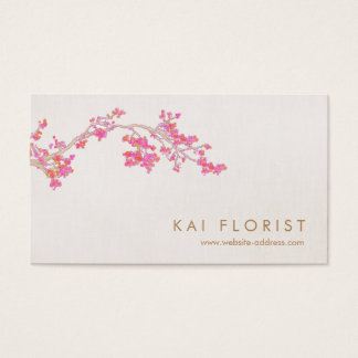 Elegant Pink Cherry Blossoms Floral Flower Business Card