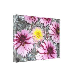Elegant Pink Dahlias Canvas Print