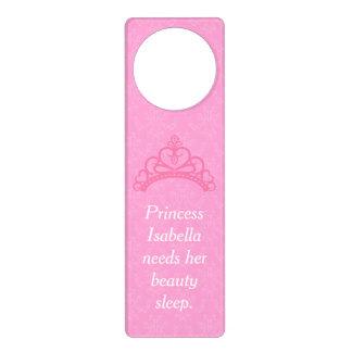 Elegant Pink Damask, Princess Beauty Sleep Door Hanger