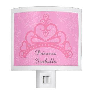 Elegant Pink Damask, Princess Tiara for Girls Night Lites