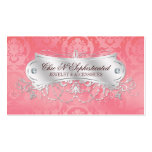 Elegant Pink Damask Swirl Double-Sided Standard Business Cards (Pack Of 100)