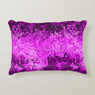 Elegant Pink Disco Ball Glitter & Sparkles Decorative Pillow