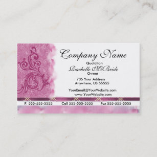 Embroidered business cards templates zazzle elegant pink embroidery business cards colourmoves