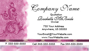 Embroidered business cards zazzle elegant pink embroidery business cards colourmoves