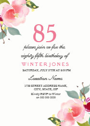 85th birthday invitations announcements zazzle elegant pink floral 85th birthday party invitation filmwisefo Choice Image