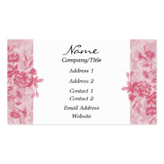 Elegant Pink Floral Business Card