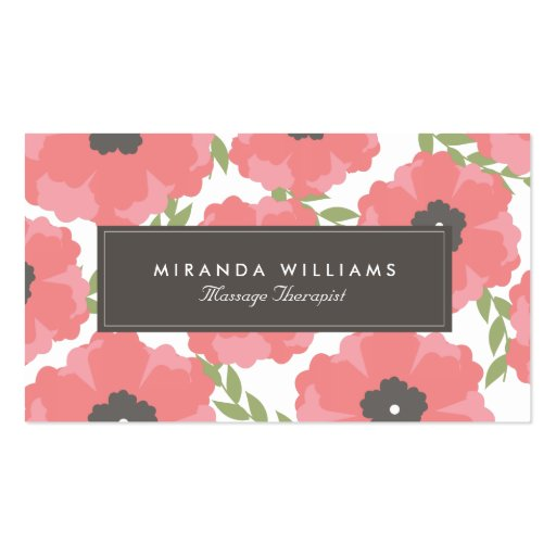 Elegant Pink Floral Business Cards