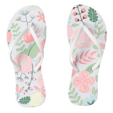 heartlocked Elegant Pink Floral Flip Flops