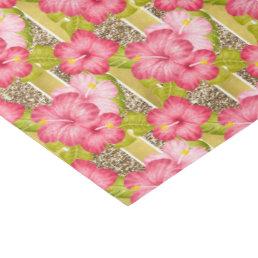 Elegant pink floral pattern Wedding tissue paper