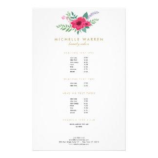 Elegant Pink Floral Salon Flyer