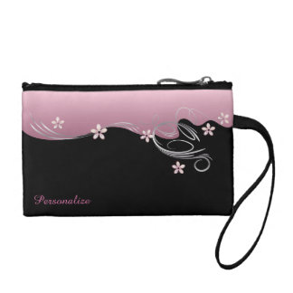 Elegant Pink Flowered Design Coin Wallet