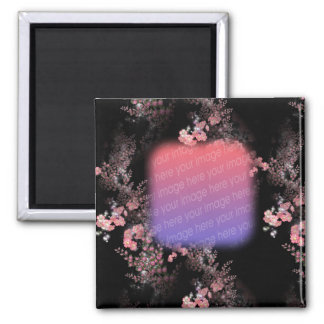 Elegant Pink Flowers Your Photo Magnet