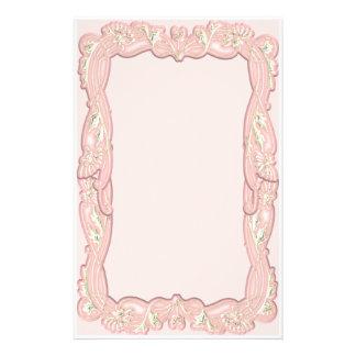 Elegant Pink Framed Stationery