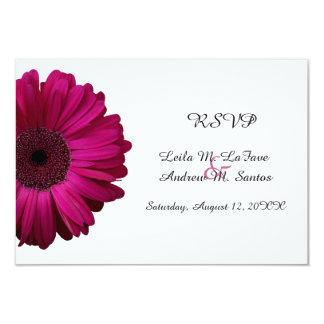 Elegant Pink Gerbera Daisy Wedding RSVP Card