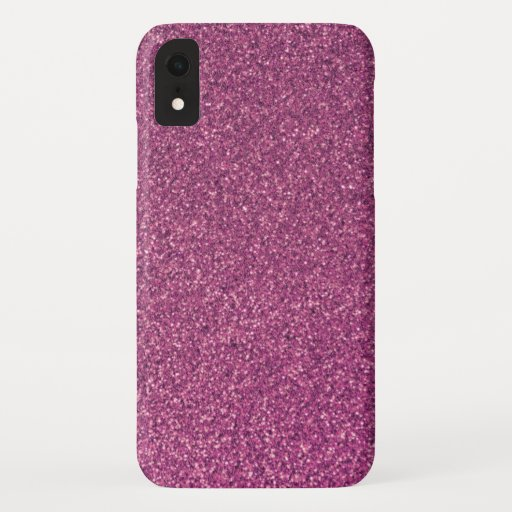 Elegant Pink Girly Sparkle Glitter iPhone XR Case