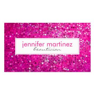 Elegant Pink Glitter Beautician Business Card 2