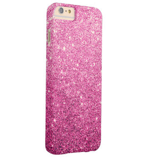 Elegant Pink Glitter Luxury Barely There iPhone 6 Plus Case