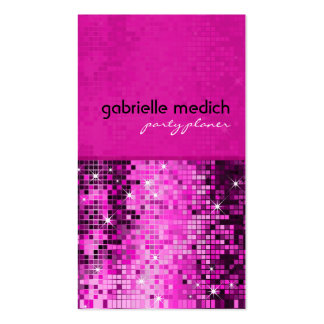 Elegant Pink Glitter Metallic Sequence Pattern Double-Sided Standard Business Cards (Pack Of 100)