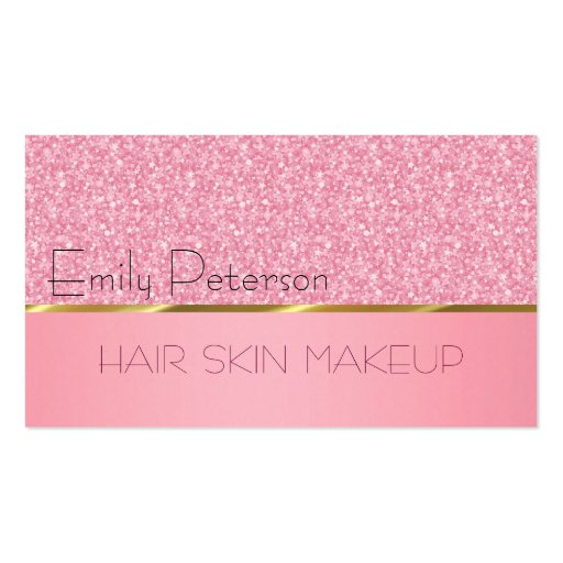 Elegant Pink Glitter Pattern Business Card